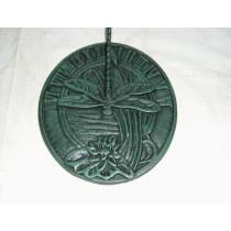 Round Fly Cast Iron Sundial