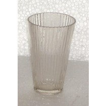 Round Glass Candle Holder Strips Pattern
