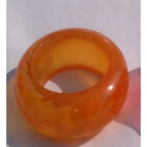 Round Orange Napkin Ring
