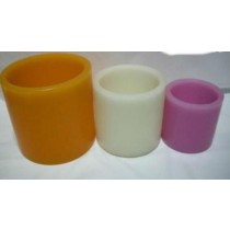 "Round Shape Hollow Candle dim (mm)4""x 4"""