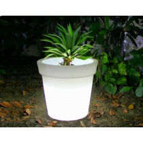 Round Shape With Border LED Planter