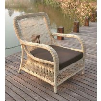 Round Wicker Design PE Rattan Single Chair