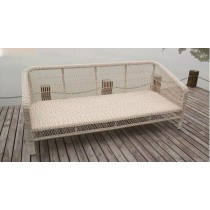 Round Wicker PE Rattan 3-Seater Sofa