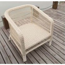 Round Wicker PE Rattan Single Chair