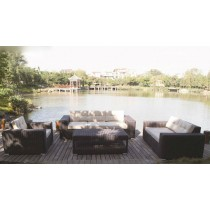 Round Wicker PE Rattan Sofa Set