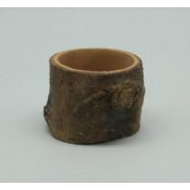 Natural Wood Finish 7 Cm Fiberglass Pots