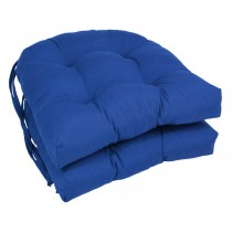 Royal Blue 16 Inch U Shaped Cushion With Ties