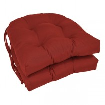 Ruby Red 16 Inch U Shaped Cushion With Ties