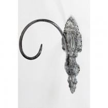 Rustic Black Finish Iron Hanging Basket Bracket
