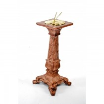 Rustic Brown Finish Classic Design Garden Sundial