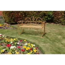 Rustic Finish Three Seater Garden Bench