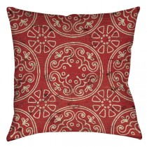 Rustic Red 16 Inch Square Cushion
