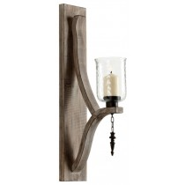 Rustic Wooden Candle Sconce