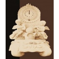 Sandstone Angel Statue & Clock Design Fountain