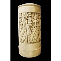 Sandstone Carved Floral & Leaf Design Pedestal