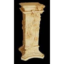 Sandstone Classic Floral Decorative Pedestal