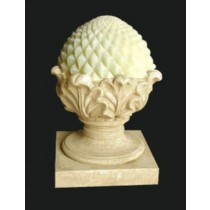 Sandstone Diamond Cut Pattern Garden Lamp