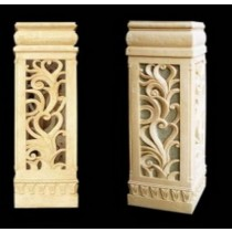 Sandstone Hand Carved Design Large Pedestal