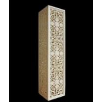 Sandstone Hand Carved Floral Design Tall Pedestal