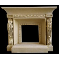 Sandstone Hand Craved Antique  Design Fireplace