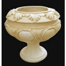 Sandstone Oak Leaf & Ornate Design Flowerpot