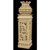 Sandstone Pedestal & Pineapple Shape Garden Lamp