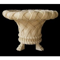 Sandstone Rope Style Design With Lion Legs Flowerpot
