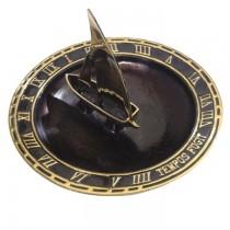 Satin Black Finish Brass Garden Sundial