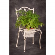 Scroll And Leaf Design Wrought Iron Planter Stand