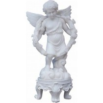Sculpture of Angel Wearing Garland
