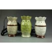 Set-3 Colored Vase Style Curved Electric Wax Warmer Oil Burner