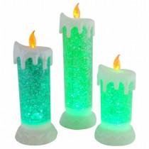 Set-3 LED Acrylic Liquid Christmas Candle
