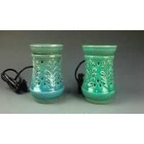 Set -2 Colored Carving Ceramic Electric Wax Warmer Oil Burner Diffuse
