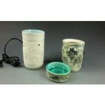 Set -2 White Colored Ceramic Electric Wax Warmer Oil Burner