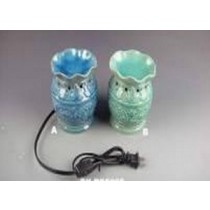 Set Of 2 Colored Ceramic Electric Wax Warmer With line Oil Burner