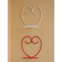 Set of 2 Red & White  Happy Heart Wall Pot Holder