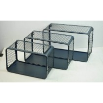 Set Of 3 Black Metal  Wall Storage Shelf