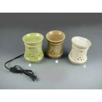 Set Of 3 Colored Ceramic Electric Wax Warmer With line