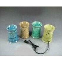 Set Of 4 Colored Circular Ceramic Electric Wax Warmer With line