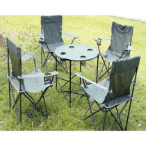 Set Of 4 Folding Chair With 1 Table