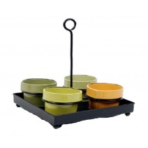 Round Metal 12 Inch Planter Set of 4 Pcs