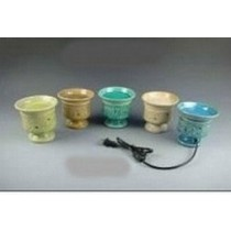 Set Of 5 Colored Ceramic Electric Wax Warmer Oil Burner