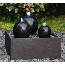 Set of three Polished Black Fountain