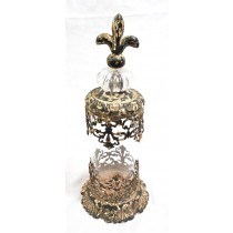 Shabby Chic Antique Metal Candle Holder
