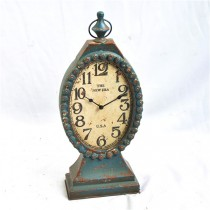 Shabby Chic Antique Table Top Metal Clock
