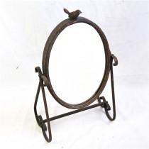 Shabby Chic Hand Curved Bird Table Top Mirror