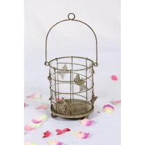 Shabby Chic Hanging Butterfly Metal Candle Holder