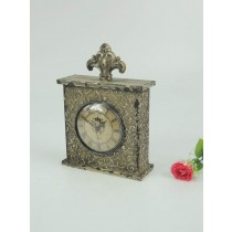 Shabby Chic Table Top Curved Metal Clock
