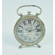 Shabby Cream Metal Antique Clock