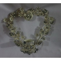 Shabby Heart Shaped Floral Iron Wall Candle Holder